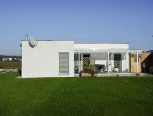 Dom modułowy zaprojektowany przez firmę McCube (Austria) z zastosowaniem załączy WALCO V