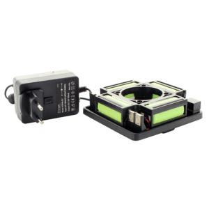 Zestaw z baterią i ładowarką do lasera obrotowego Hedue Q2 i R3