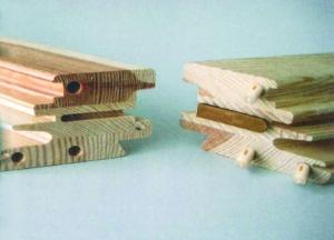 Przykład zastosowania kołków KNAPP® do łączenia ram okiennych w narożnikach